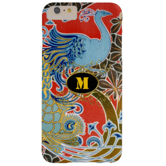 Art Deco Peacock Vintage  Monogram Barely There iPhone 6 Plus Case