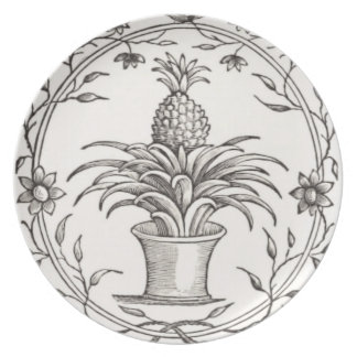 Art Deco Pineapple Serving Dish Plate