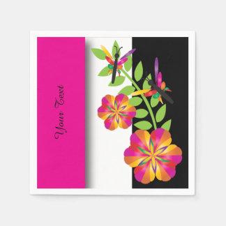 Art Deco Pink Floral Napkin