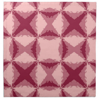 Art Deco Pink Floral Swirl Retro Abstract Art Napkin