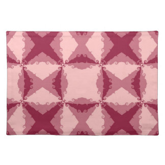 Art Deco Pink Floral Swirl Retro Abstract Art Cloth Place Mat
