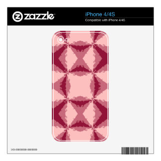 Art Deco Pink Floral Swirl Retro Abstract Art Skin For The iPhone 4S