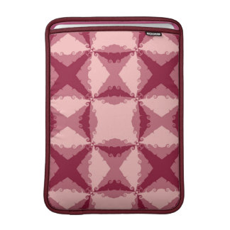 Art Deco Pink Floral Swirl Retro Abstract MacBook Sleeves