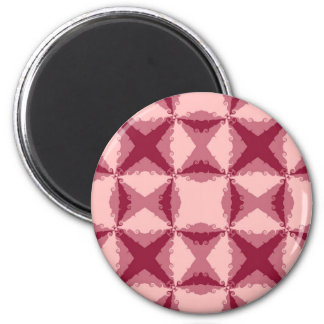 Art Deco Pink Floral Swirl Retro Abstract Magnet