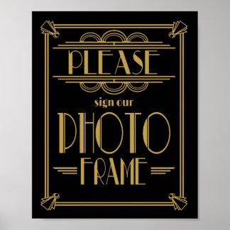 Art Deco Please sign our photo frame print