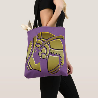 Art Deco Portrait of a Lady Purple and Gold Tote Bag