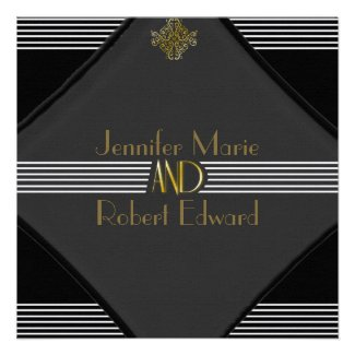 Art Deco Posh Wedding Invitation