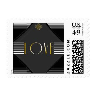 Art Deco Posh Wedding Love Stamp