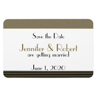 Art Deco Posh Wedding Save the Date Magnet