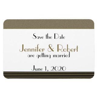 Art Deco Posh Wedding Save the Date Vinyl Magnets