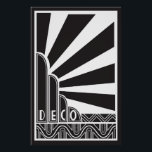 """Art Deco Poster<br><div class=""""desc"""">This stunning art deco poster will make a gorgeous addition to the decor in any room - get it framed!</div>"""