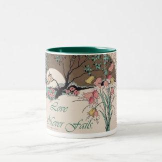 Art Deco Prints Love Never Fails Mug