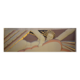 Art Deco Profile Card Mini Business Card