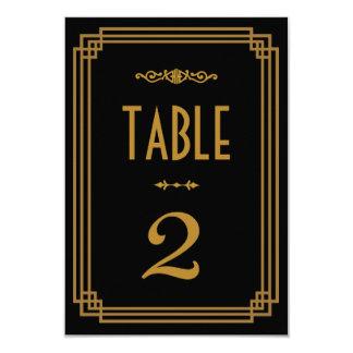 Art déco que casa números de la tabla invitación 8,9 x 12,7 cm