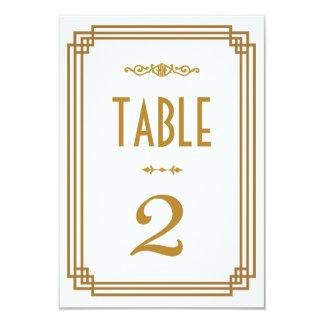 """Art déco que casa números de la tabla invitación 3.5"""" x 5"""""""
