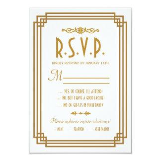 """Art déco que casa tarjetas de la respuesta de RSVP Invitación 3.5"""" X 5"""""""