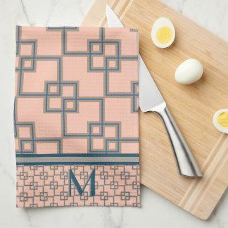 Art déco que coincide los cuadrados (cones toallas de mano