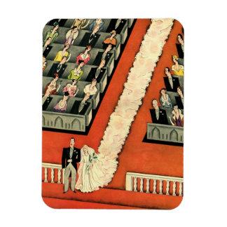 Art déco que se casa, recienes casados del vintage imanes rectangulares