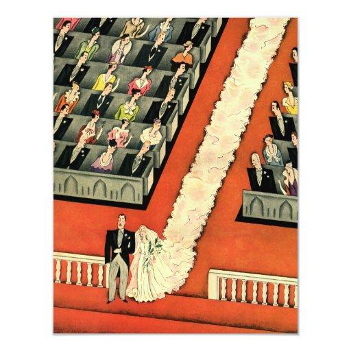 Art déco que se casa, recienes casados del vintage invitación 10,8 x 13,9 cm