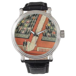 Art déco que se casa, recienes casados del vintage relojes de pulsera