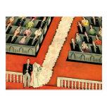 Art déco que se casa, recienes casados del vintage tarjetas postales