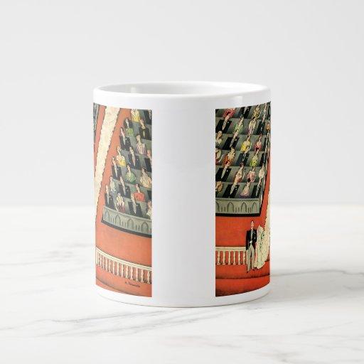 Art déco que se casa, recienes casados del vintage taza grande