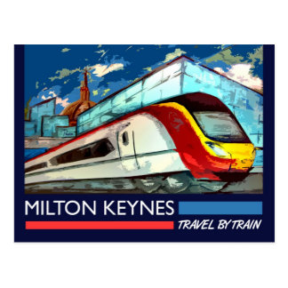 Art Deco Railway postcard