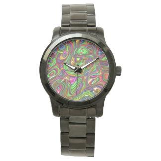 art deco, rainbow colors wristwatch