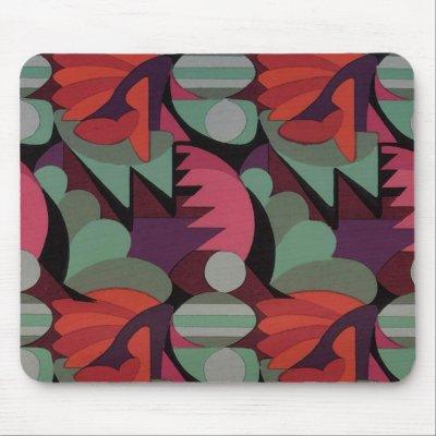 art deco red pattern