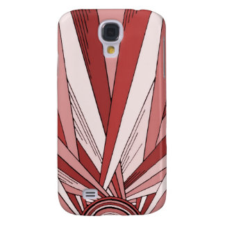 Art Deco Red Sunrise on Samsung Galaxy S4 Case
