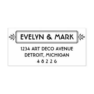 Art Deco | Reply Envelope Address Self-inking Stamp
