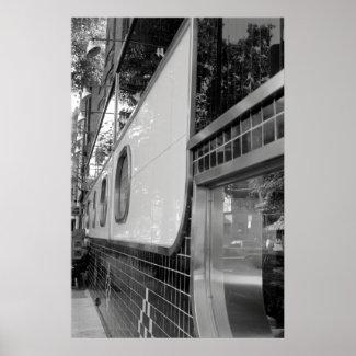 Art Deco Restaurant Exterior Poster print