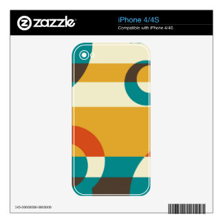 Art Deco Retro Fifties Stripes Abstract Art Skin For The iPhone 4S