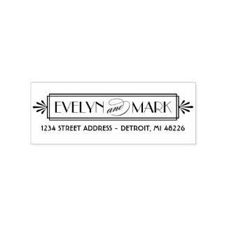 Art Deco | Return Address Rubber Stamp