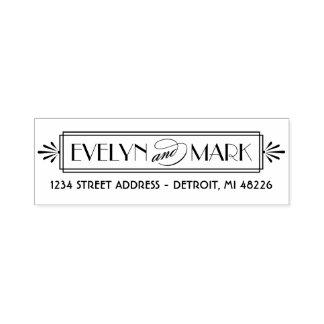 Art Deco | Return Address Self-inking Stamp