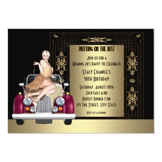 Art Deco Roaring 20's Birthday Party Custom Invites