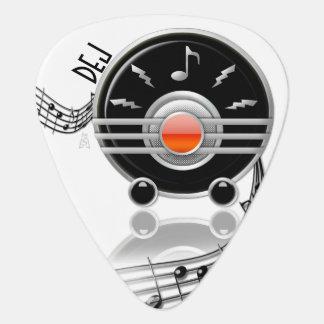 Art Deco Rockin' Radio (Personalized) Guitar Pick