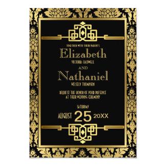Art déco romántico de oro de los años 20 que casa anuncios personalizados
