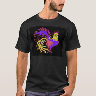 Art Deco Rooster (Jewel Tone) T-Shirt