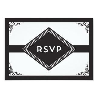 Art Deco RSVP 3.5x5 Paper Invitation Card