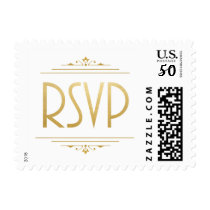 Art Deco RSVP Stamp