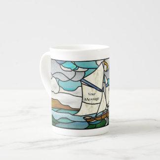 Art Deco Sailing Vessel Tea Cup