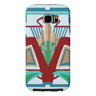 Art Deco Samsung Galaxy 6 Case (Pale Blue)