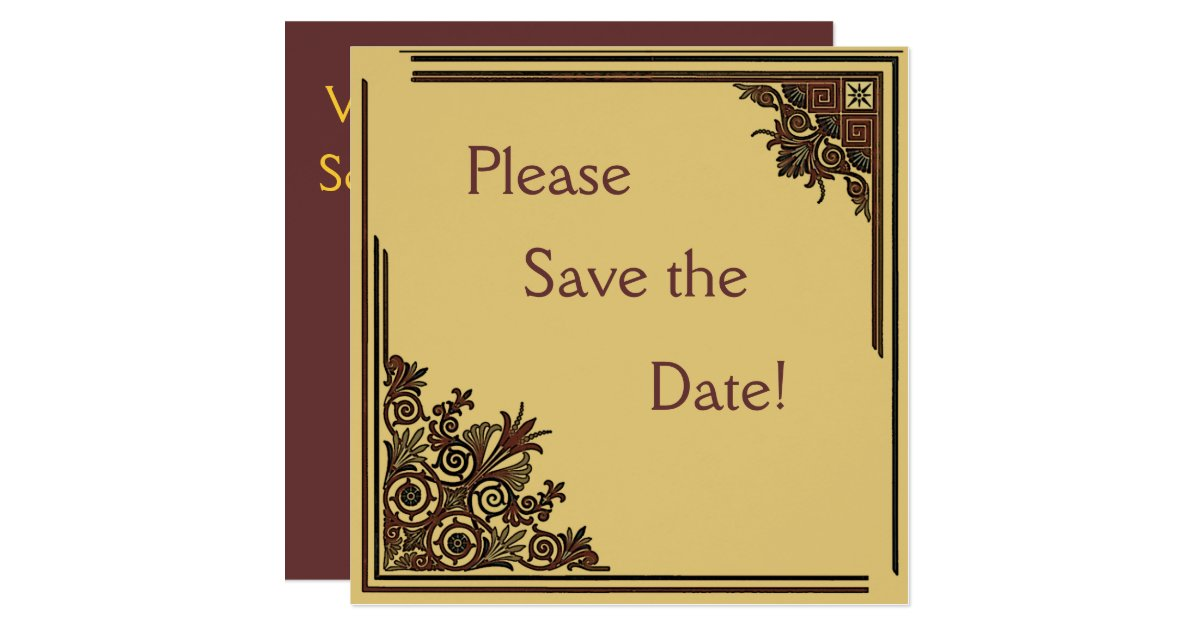 art deco save the date cards zazzle. Black Bedroom Furniture Sets. Home Design Ideas