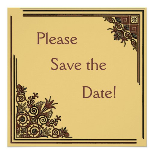 Art Deco Save the Date Cards Announcements