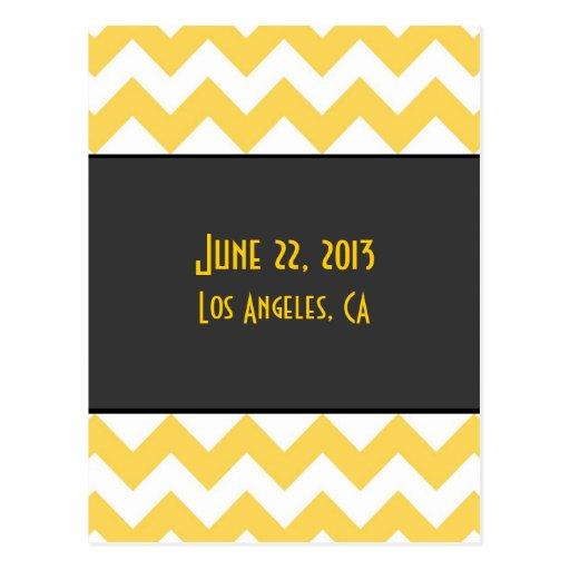 Art Deco Save the Date Postcard - alternate back