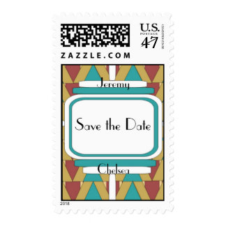 Art Deco Save the Date Stamps