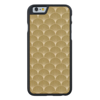 Art deco,scallop,pattern,gold,white,silver,chic, carved® maple iPhone 6 slim case