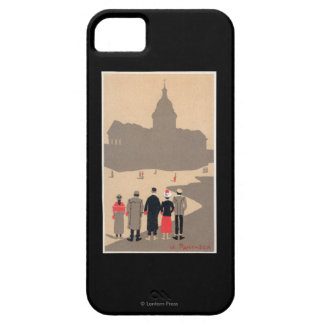 Art déco SceneParis, Francia de Le Pantheon iPhone 5 Cobertura