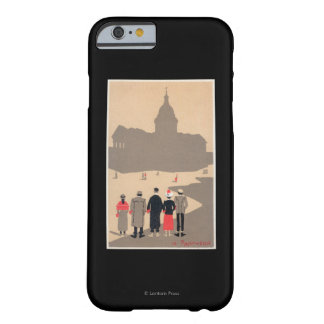 Art déco SceneParis, Francia de Le Pantheon Funda De iPhone 6 Barely There